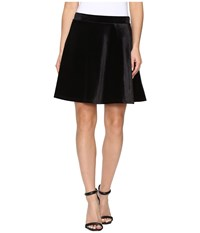 Michael Michael Kors Panne Velvet Circle Skirt Black Women's Skirt