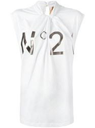 N 21 No21 Twisted Neck T Shirt White