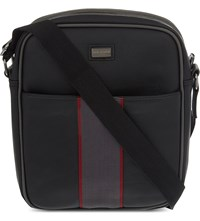 Ted Baker Downit Faux Leather Messenger Bag Black Jet