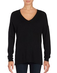 Lord And Taylor Mini Cable Knit Top Black