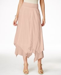 Styleandco. Style And Co. Handkerchief Hem Skirt Only At Macy's Crushed Petal