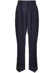 Dice Kayek Pleated Front Trousers Blue