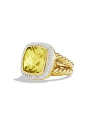 David Yurman Albion Ring With Diamonds In Gold Green Onyx Citrine