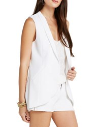 Bcbgeneration Long Blazer Vest White