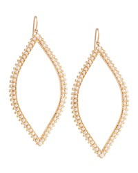 Open Marquis Leaf Earrings With Pearls Jamie Wolf Pink