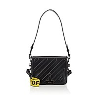 Off White C O Virgil Abloh Small Leather Crossbody Bag Black