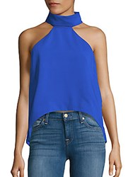 Finders Keepers Halter Neck Sleeveless Top Cobalt