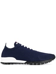 Kiton Lace Up Sneakers Blue