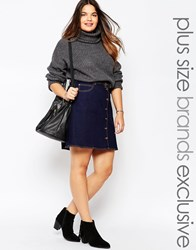 Alice And You Denim A Line Skirt Darkblue