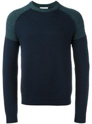 Carven Colour Block Jumper Blue