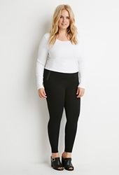 Forever 21 Zippered Flat Front Pants Black