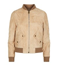 Chloe Quilted Suede Bomber Jacket Female Neutral
