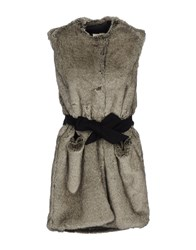 Annie P. Coats And Jackets Faux Furs Grey