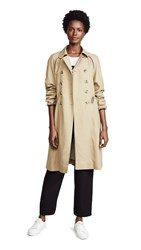 A.P.C. Jackie Trench Beige Fonce