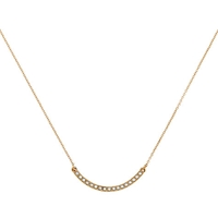 Cachet London Gold Plated Stud Line Necklace Gold