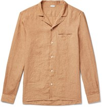 Caruso Camp Collar Linen Shirt Neutrals