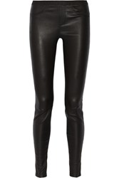 Helmut Lang Stretch Leather Leggings Black