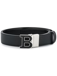 Bally Logo Buckle Belt Black