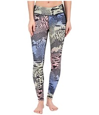 Lucy Mat And Move Leggings Rainbow Hybrid Geo Print Women's Workout Blue