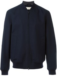 Marni Bomber Jacket Blue