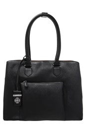 Wallis Lucy Tote Bag Black Tan