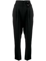 Brunello Cucinelli Belted Tailored Trousers Black
