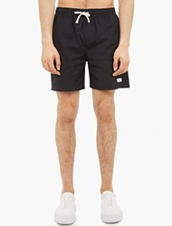 Saturdays Surf Nyc Black Cotton Canvas Shorts