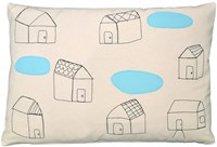 K Studio Houses With Pools Pillow Beige