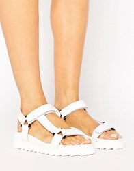 Sixty Seven Sixtyseven D Ring Flatform Sandal White