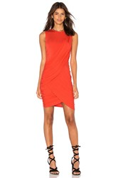 Michael Stars Eveny Bodycon Dress Orange