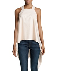 F.T.B By Fade To Blue Square Neck Waterfall Back Tank Blush