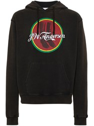 J.W.Anderson Jw Anderson Cola Boots Print Hoodie Cotton Brown