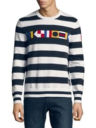 Nautica Striped Signal Flag Sweater Bright White