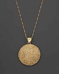 Roberto Coin 18K Yellow Gold Plated Sterling Silver Stingray Large Disc Pendant Necklace 17