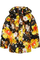 Richard Quinn Oversized Floral Print Shell Jacket Black