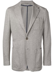 Canali Knitted Style Tailored Blazer Grey