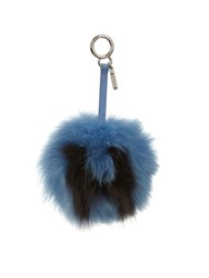 Fendi H Letter Pompom Fox Fur Bag Charm