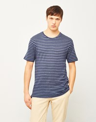 Only And Sons Poulper Fitted Fishtail T Shirt Blue