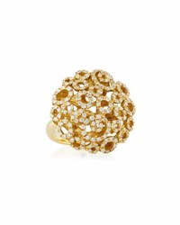 Roberto Coin Mauresque 18K Yellow Gold Diamond Filigree Ring Size 6.5