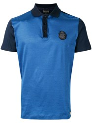 Billionaire Logo Patch Polo Shirt Blue