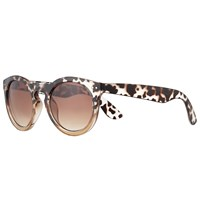 John Lewis Ombre Chunky Preppy Sunglasses Tortoise Brown Gradient