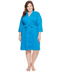 Jockey Cotton Essentials Plus Size Robe Teal Women's Robe Blue