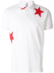 Invicta Star Print Polo Shirt White