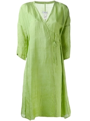 Dosa Wrap Dress Green