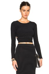 Jonathan Simkhai Angle Cut Out Top In Black