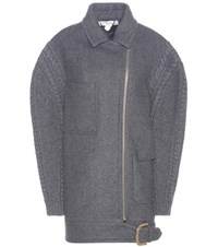Stella Mccartney Wool Blend Coat Grey