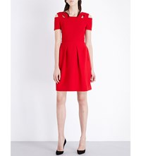 Roland Mouret Kneller Stretch Crepe Dress Red