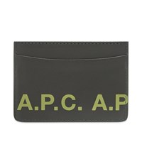 A.P.C. Logo Card Holder Black