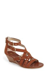 Isola Women's Petra Strappy Wedge Sandal Tobacco Suede