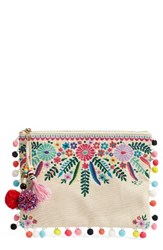 Steve Madden Steven By Embroidered Clutch